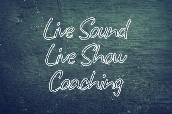 Kreidetafel Live Sound Coaching